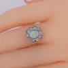 Fabulous opal ring on finger