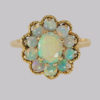 antique and vintage engagement rings Opal cluster