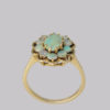 Opal cluster ring in 14 carat gold