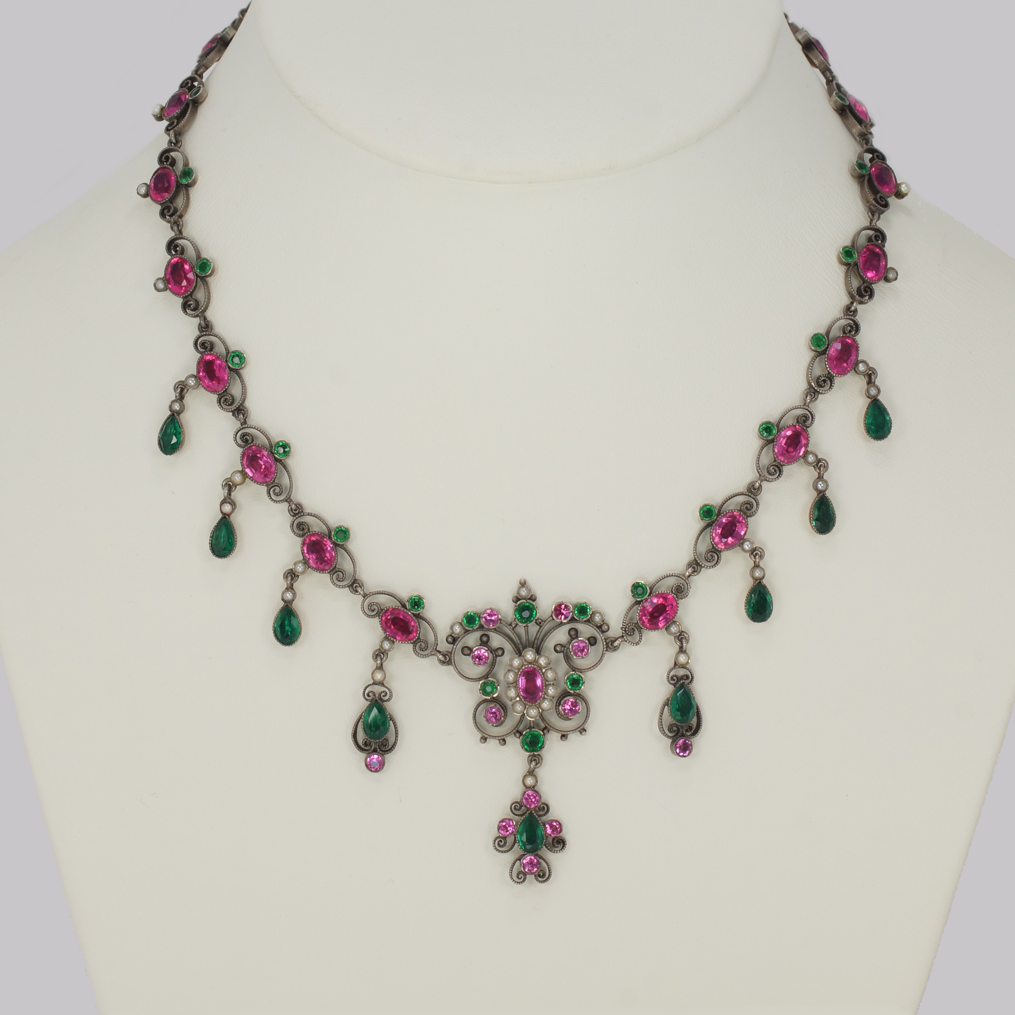 Pearl Antique Swag & Scroll Necklace