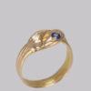 ring gold diamond sapphire