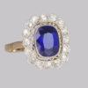 antique sapphire cluster ring art deco