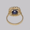 antique sapphire cluster ring 1930s