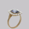 antique sapphire cluster ring