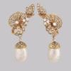 Pearl diamond gold and pearl earrings