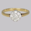 Vintage Diamond Cluster Ring 0.35 Carat total