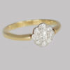 Vintage Diamond Cluster Ring 1930s