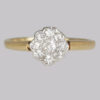 Vintage Diamond Cluster Ring 9 Diamonds
