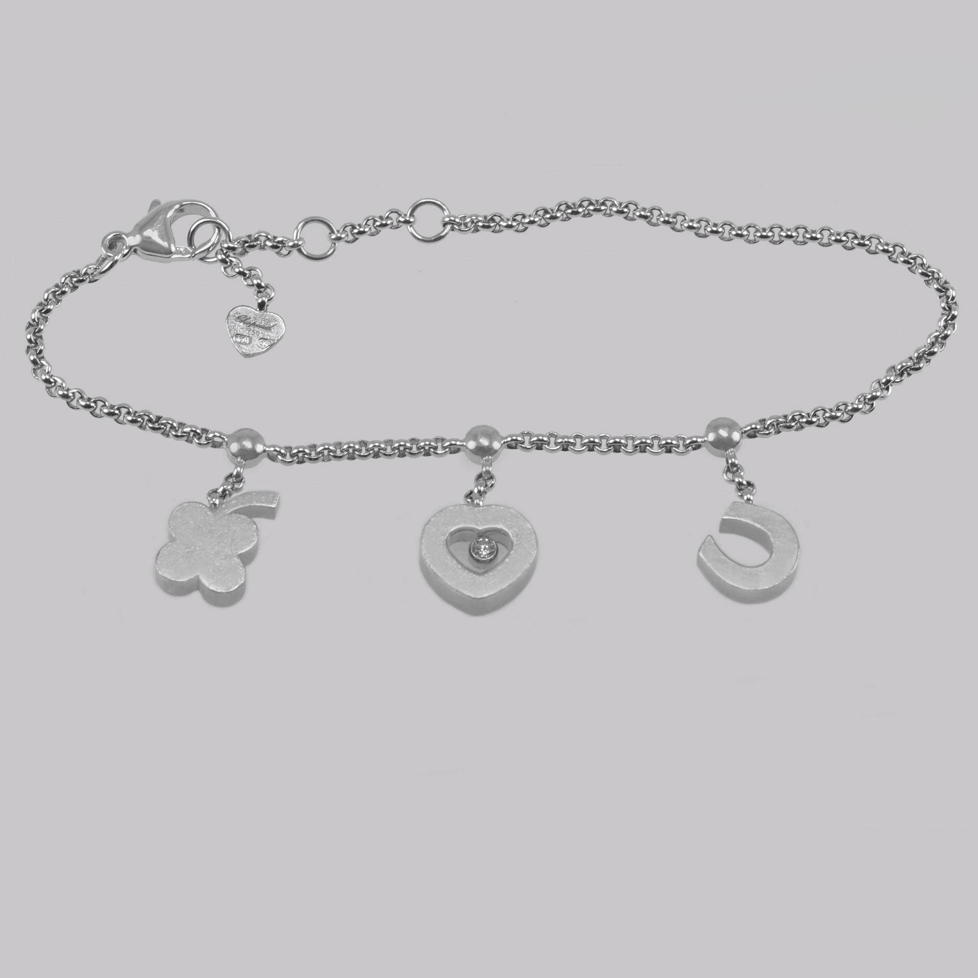 Chopard Diamond Charm Bracelet