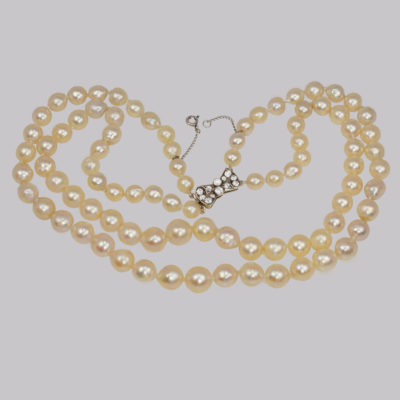 Vintage Pearl Double Strand Necklace
