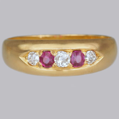 Ruby & Diamond Gypsy Ring Chester 1884