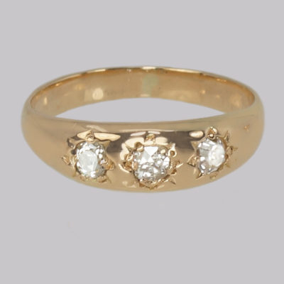 Antique Diamond Trilogy Gypsy Ring