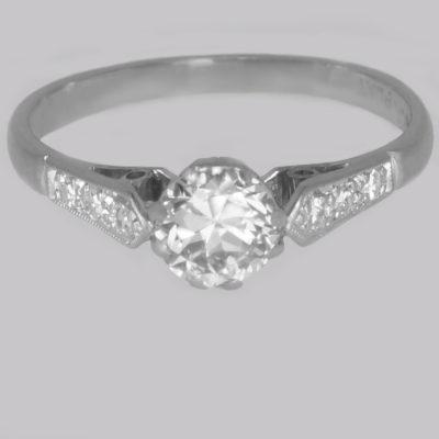 Antique Diamond Solitaire Engagement Ring