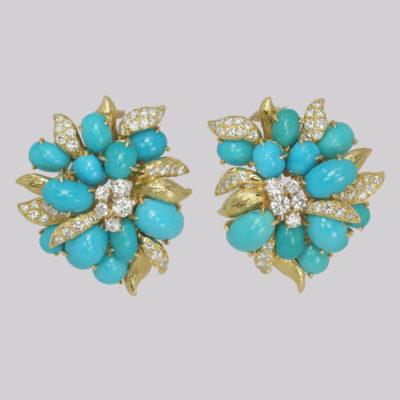 Vintage Julius Cohen Cluster Earrings