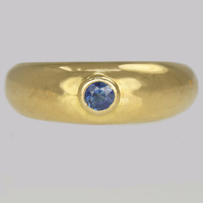 Vintage Cartier Sapphire Solitaire Ring