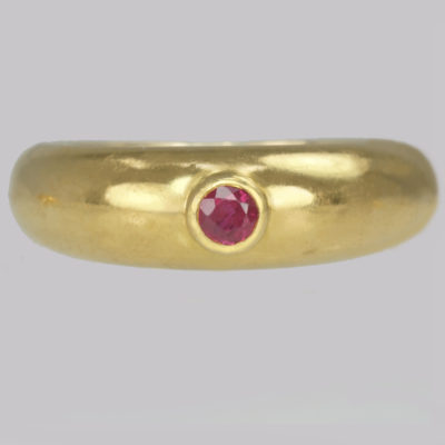 Vintage Cartier Solitaire Ruby Ring