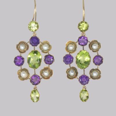 Antique Suffragette Dangle Earrings