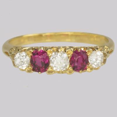 Victorian Diamond & Ruby Ring